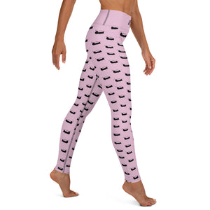 Chinook Helicopter Pattern Pink Yoga Leggings for Women by Ruck & Rotor