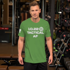 """10.22 TACTICAL AF"" Short-Sleeve Unisex Cotton T-Shirt by Ruck & Rotor"