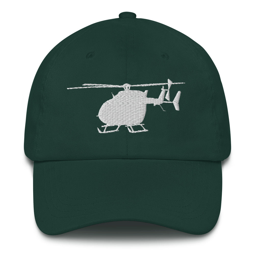 UH-72 Lakota Helicopter White Embroidery hat by Ruck & Rotor