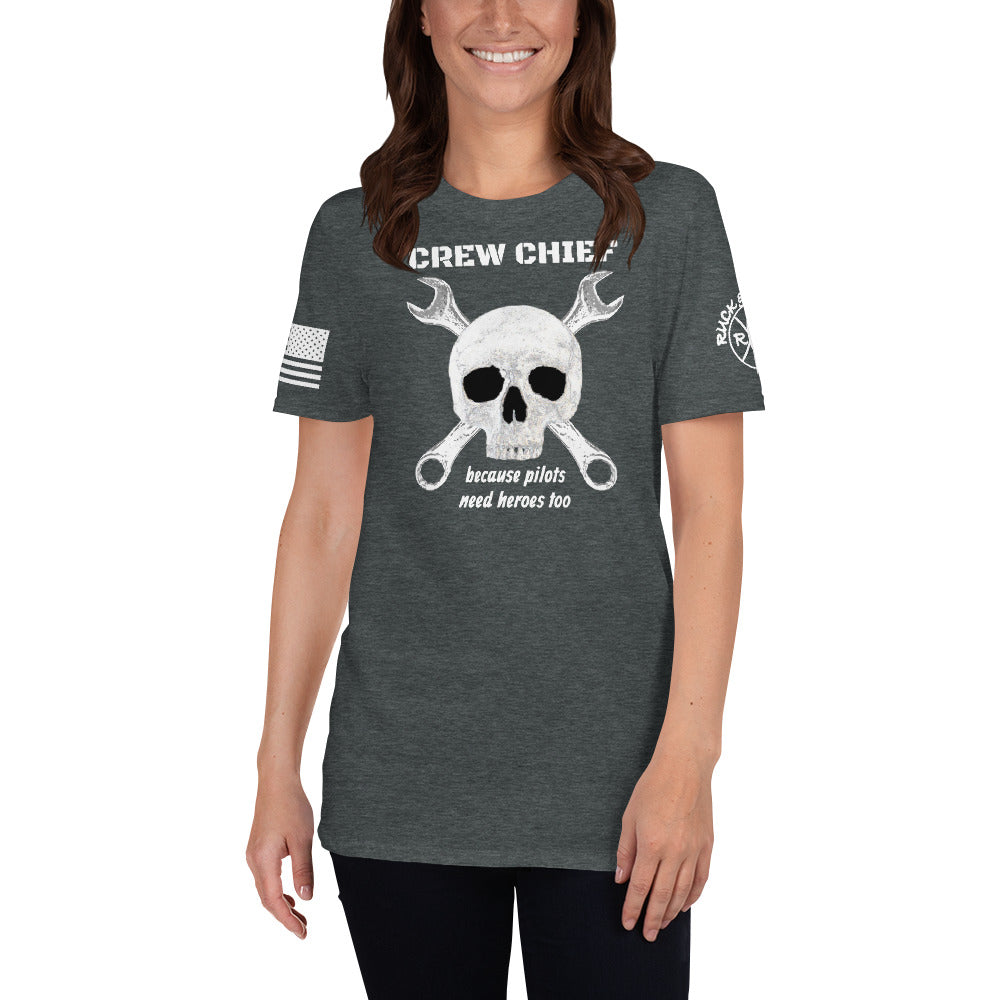 """Crew Chief"" front design Short-Sleeve Unisex T-Shirt by Ruck & Rotor"