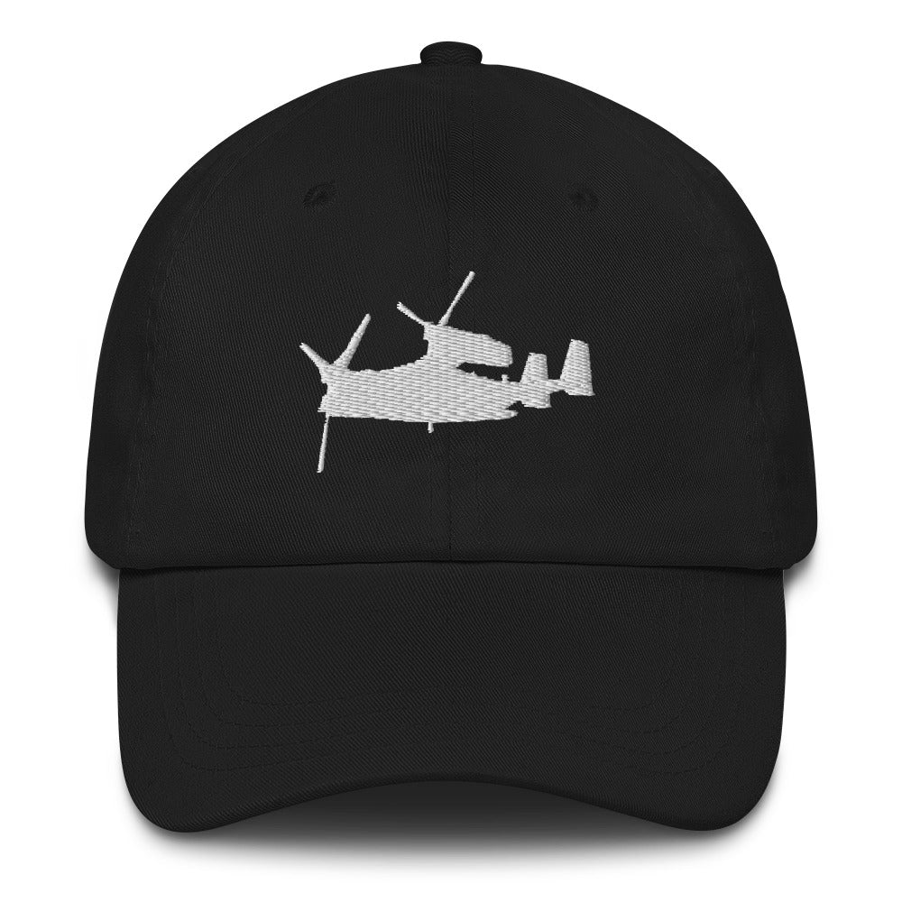 V-22 Osprey White Embroidery hat by Ruck & Rotor