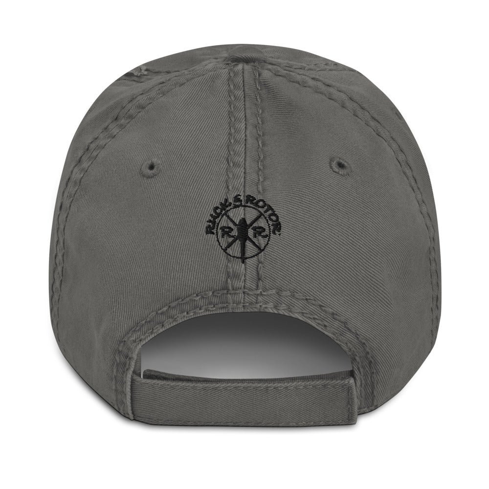 AH-64 Apache Embroidered Black Helicopter Hat by Ruck & Rotor