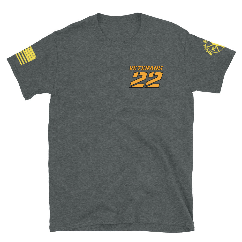 22 VETERANS Short-Sleeve Unisex T-Shirt by Ruck & Rotor