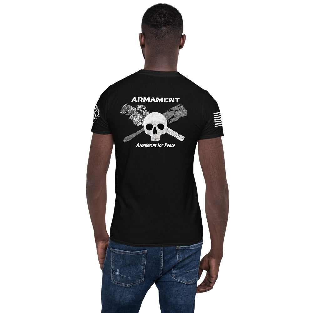 """ARMAMENT"" Short-Sleeve Unisex T-Shirt by Ruck & Rotor"