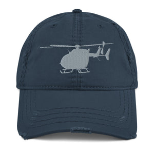 UH-72 Lakota Embroidered Airplane, Distressed Hat, Black or Blue by Ruck & Rotor