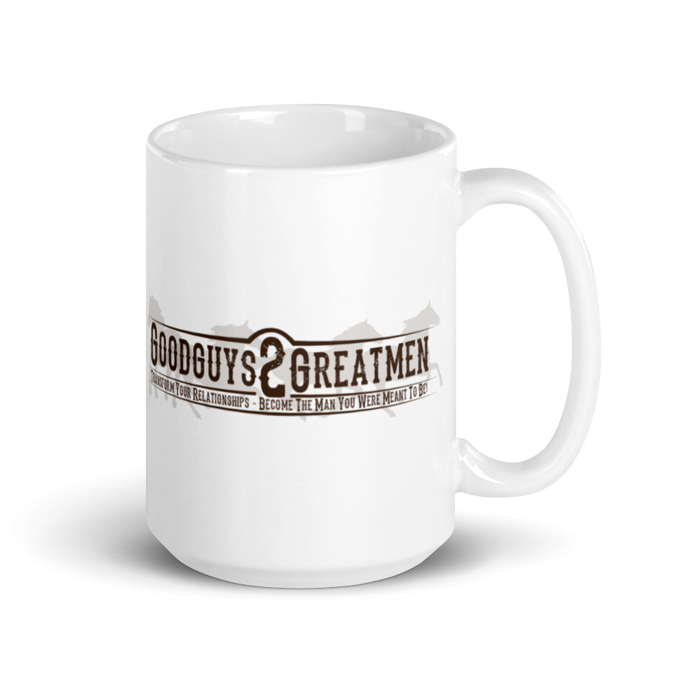GoodGuys2GreatMen White glossy mug