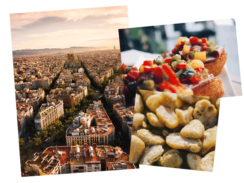 Barcelona, food, and beans