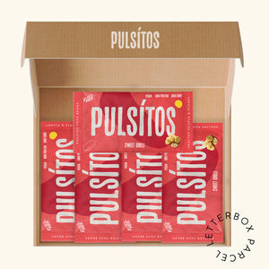 Sweet Chilli 5er Pack - PULSÍTOS PULSÍTOS vegan and plastic-free fava bean snacks