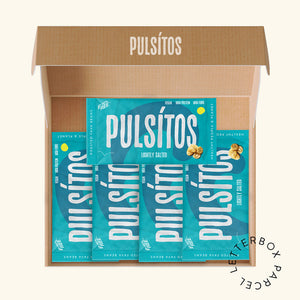 Load image into Gallery viewer, Lightly Salted 5er Pack - PULSÍTOS PULSÍTOS vegan and plastic-free fava bean snacks