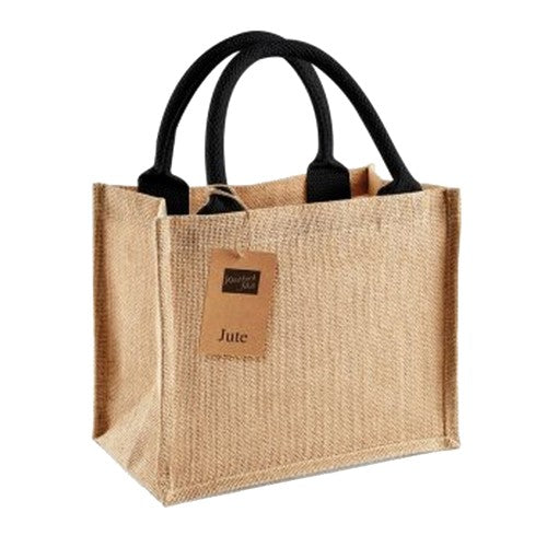 Front - Westford Mill Jute Mini Gift Bag (6 Litres) (Pack of 2)