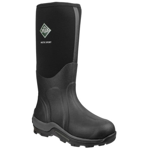 Front - Muck Boots Unisex Arctic Sport Pull On Gummistiefel