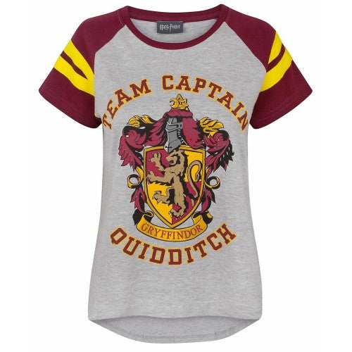 Front - Harry Potter Damen T-Shirt Quidditch Team Captain