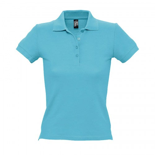 Front - SOLS People Damen Polo-Shirt, Kurzarm
