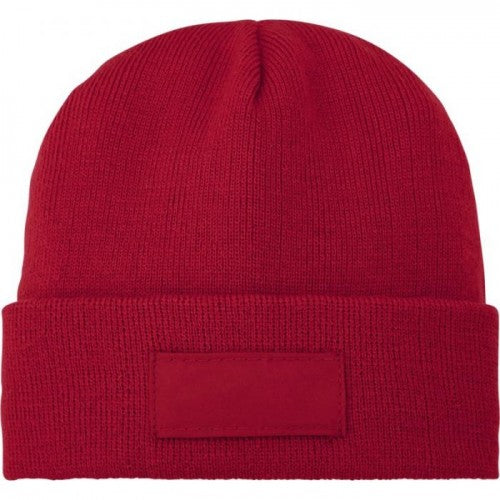 Rot - Front - Bullet Boreas Beanie mit Patch