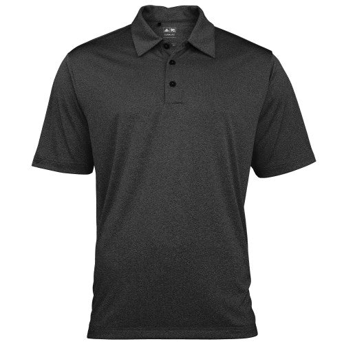 Front - Adidas Golf Herren Heather Climalite Polo-Shirt, Kurzarm