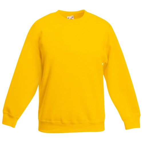 Front - Fruit Of The Loom Kinder Unisex Pullover Klassik 80/20