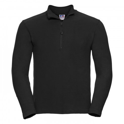 Front - Russell Europe Herren Mikrofleece Top mit 1/4 Zip