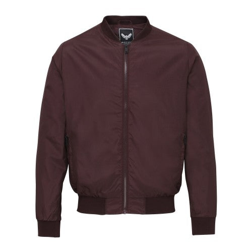 Front - Brave Soul Mens Sanjay Classic Full Zip Bomber Jacket