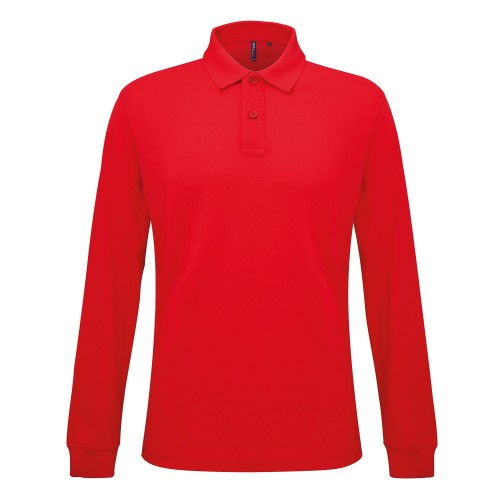 Front - Asquith & Fox Herren Polo-Shirt, langärmlig