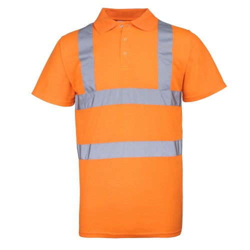 Front - RTY Herren Polo Shirt High Vis (2 Stück/Packung)
