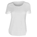 Weiß - Back - Russell Collection elastisches Damen T-Shirt, kurzarm