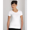 Weiß - Side - Russell Collection elastisches Damen T-Shirt, kurzarm