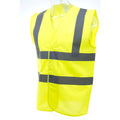 Neongelb - Close up - Yoko Unisex Premium Hi-Vis Weste