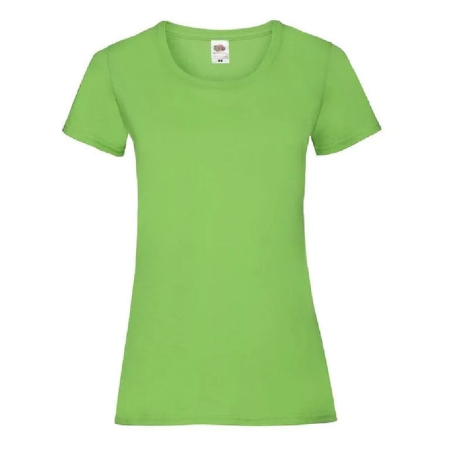 Dunkelgrau meliert - Back - Fruit Of The Loom Lady-Fit Damen T-Shirt