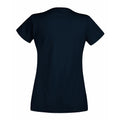 Dunkles Marineblau - Back - Fruit Of The Loom Lady-Fit Valueweight Damen T-Shirt, V-Ausschnitt