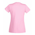 Rosa - Side - Fruit Of The Loom Lady-Fit Valueweight Damen T-Shirt, V-Ausschnitt