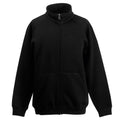 Schwarz - Front - Fruit Of The Loom Sweat Jacke für Kinder