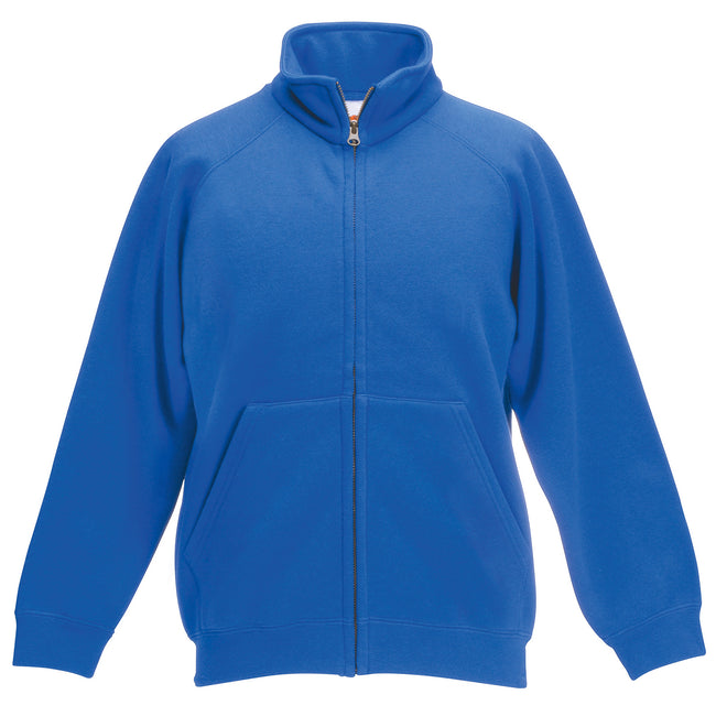 Königsblau - Front - Fruit Of The Loom Sweat Jacke für Kinder