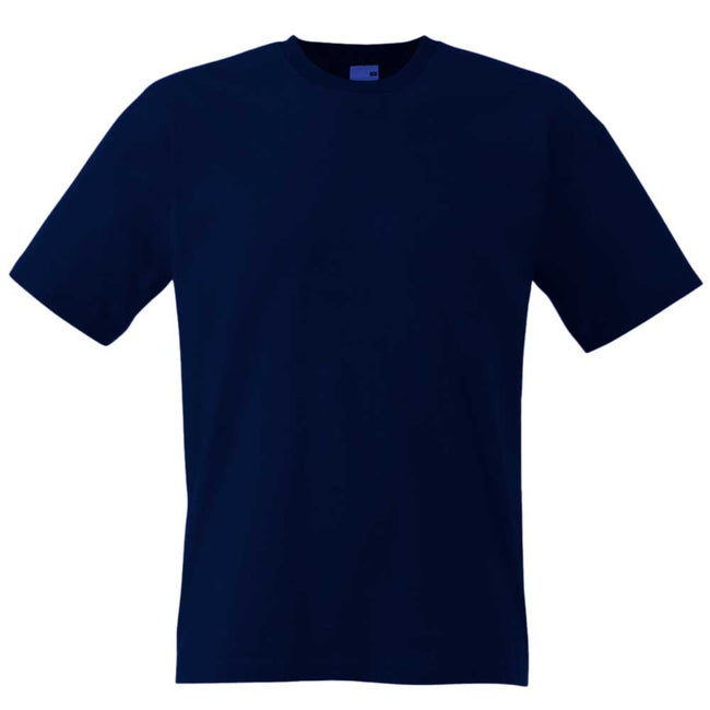 Dunkles Marineblau - Back - Fruit Of The Loom Herren Screen Stars Original T-Shirt