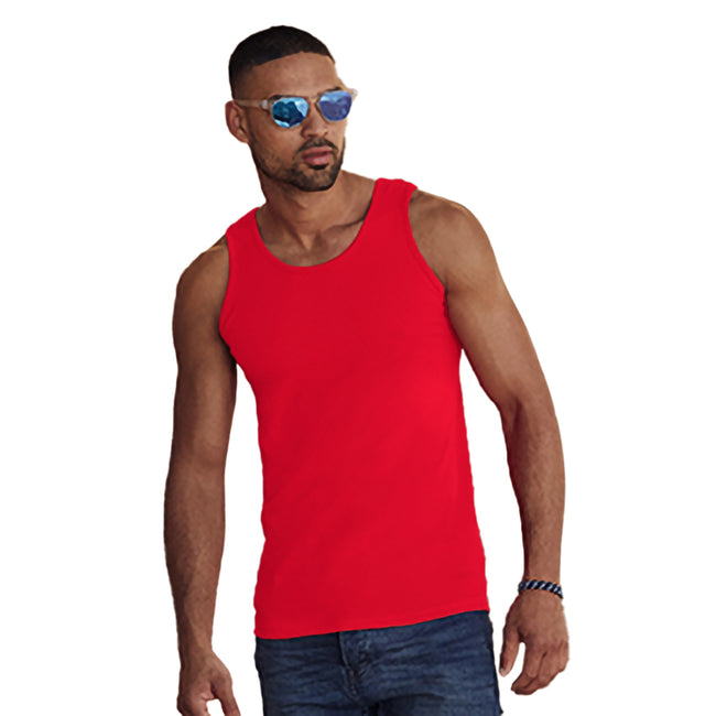 Rot - Back - Fruit Of The Loom Athletic Tank Top für Männer
