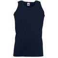 Dunkles Marineblau - Front - Fruit Of The Loom Athletic Tank Top für Männer