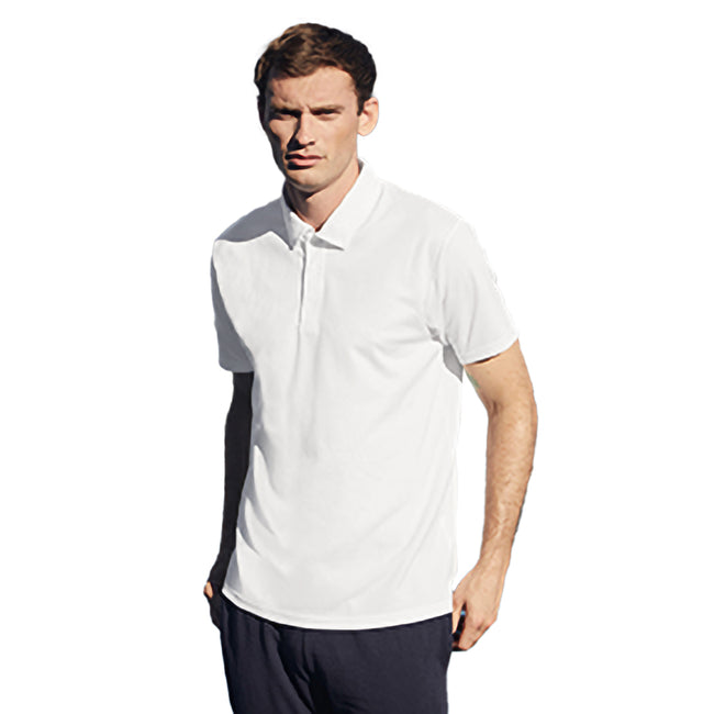 Weiß - Side - Fruit Of The Loom Herren Polo-Hemd, kurzärmlig