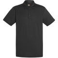 Schwarz - Front - Fruit Of The Loom Herren Polo-Hemd, kurzärmlig