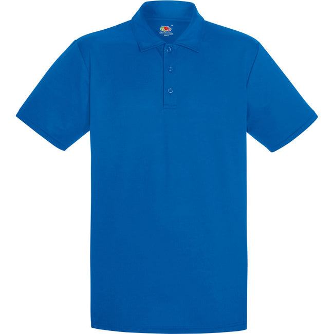 Königsblau - Front - Fruit Of The Loom Herren Polo-Hemd, kurzärmlig