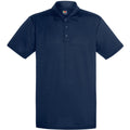 Marineblau - Front - Fruit Of The Loom Herren Polo-Hemd, kurzärmlig