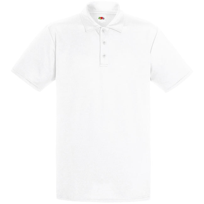 Weiß - Front - Fruit Of The Loom Herren Polo-Hemd, kurzärmlig