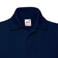 Dunkles Marineblau - Side - Fruit of the Loom Kinder Polo Shirt, Kurzarm