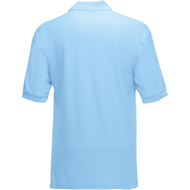 Himmelblau - Back - Fruit of the Loom Kinder Polo Shirt, Kurzarm