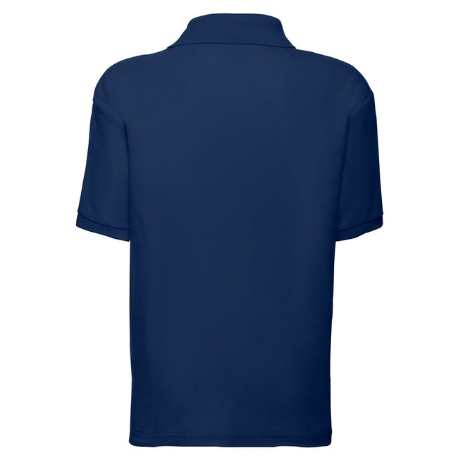 Marineblau - Back - Fruit of the Loom Kinder Polo Shirt, Kurzarm