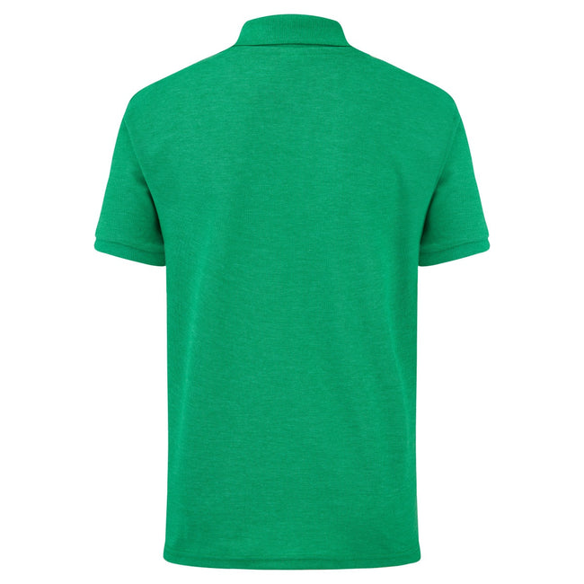 Grün meliert - Back - Fruit of the Loom Kinder Polo Shirt, Kurzarm