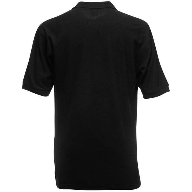 Schwarz - Back - Fruit of the Loom Kinder Polo Shirt, Kurzarm