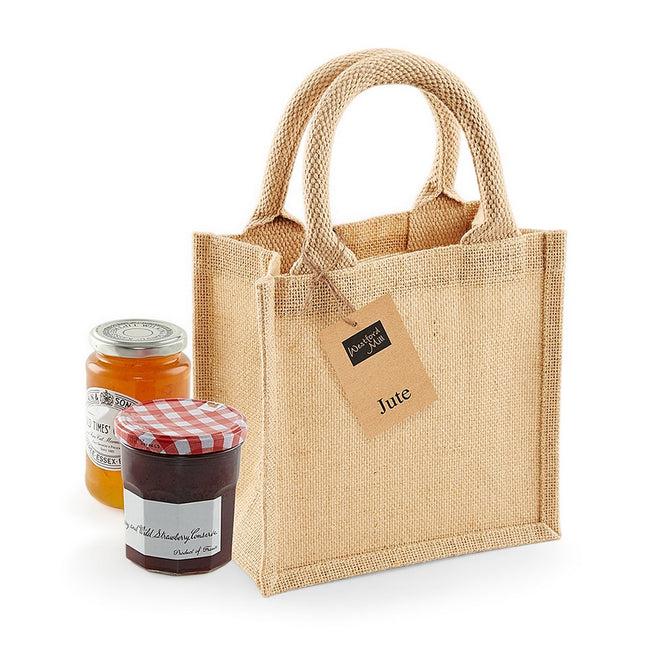 Natur - Lifestyle - Westford Mill Jute Mini Gift Bag (6 Litres) (Pack of 2)