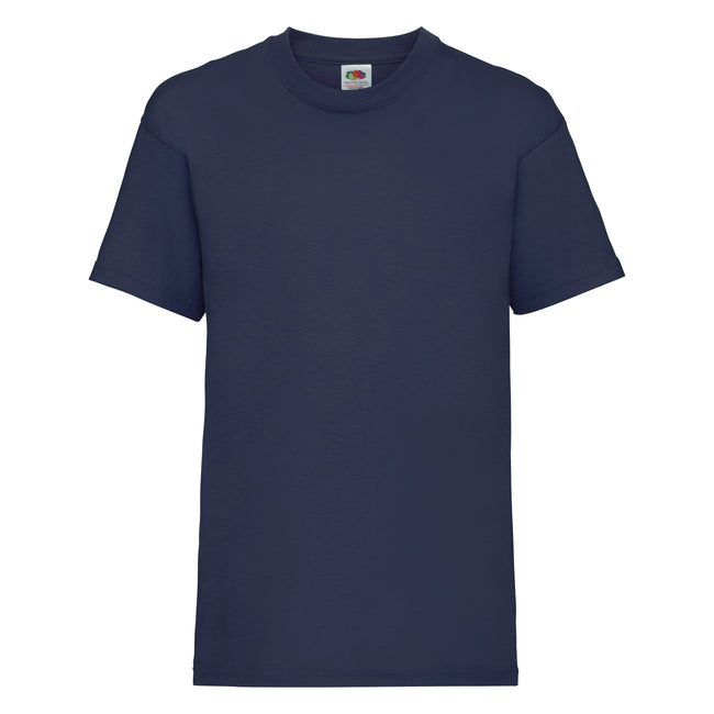 Marineblau - Front - Fruit of the Loom Kinder Unisex T-Shirt, kurzärmlig (2 Stück-Packung)