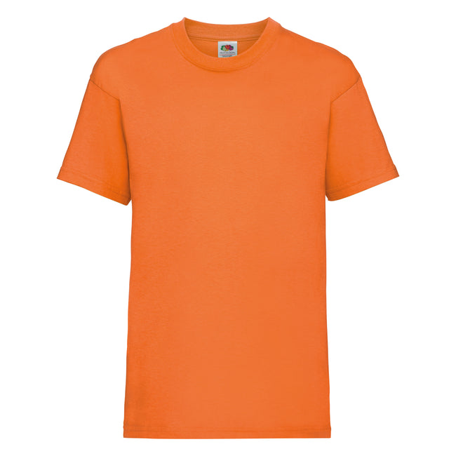 Orange - Front - Fruit of the Loom Kinder Unisex T-Shirt, kurzärmlig (2 Stück-Packung)