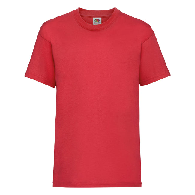 Rot - Front - Fruit of the Loom Kinder Unisex T-Shirt, kurzärmlig (2 Stück-Packung)