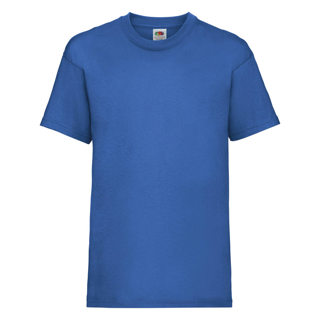 Royalblau - Front - Fruit of the Loom Kinder Unisex T-Shirt, kurzärmlig (2 Stück-Packung)